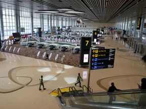 Changi Airport in Singapore