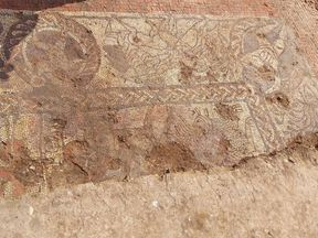 A Roman mosaic floor found in Boxford, Berkshire. Pic: Cotswold Archaeology/Facebook