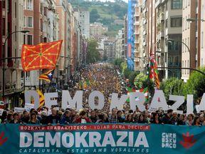 Thousands of demonstrators march in Bilbao