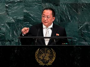 North Korea's Foreign Minister spoke at the UN on Saturday