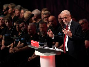 Jeremy Corbyn delivers his keynote speech at the Labour Party Conference in Brighton