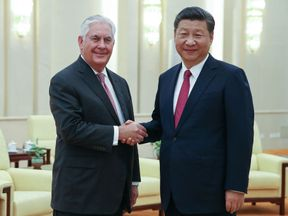 Mr Tillerson said North Korea had come up in talks with Xi Jinping