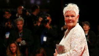 """Dame Judi Dench during a red carpet for the movie """"Victoria and Abdul"""""""