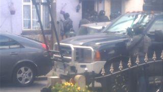 Armed police in Sunbury