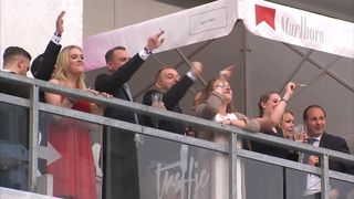 AfD supporters celebrate coming third in the German general election
