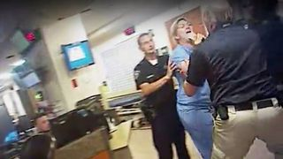 Ms Wubbels was dragged outside by police when she insisted on following hospital rules