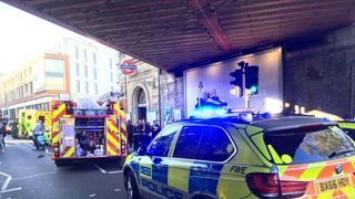 Emergency services attending an incident at Parsons Green station in west London