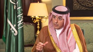 Saudi Arabia's Foreign Affairs Minister speaks to Sky's Dominic Waghorn about Qatar and Yemen