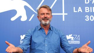 """Actor Sam Neill poses during a photocall for the movie """"Sweet Country"""""""