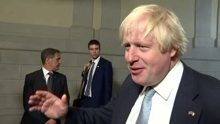 Boris Johnson talks to Sky News after Theresa May's key Brexit speech