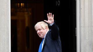 Boris Johnson arrives at Downing Street