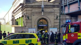 Emergency services attend the scene. Pic @ASolopovas