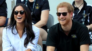 Prince Harry and Meghan Markle watch Wheelchair Tennis at the 2017 Invictus Games