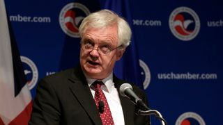 David Davis delivers remarks at the Chamber of Commerce d
