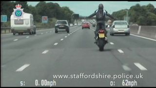 Zietowski stood up while riding on the M6