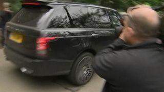 Wayne Rooney was seen arriving home