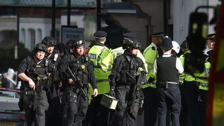 Armed police close to Parsons Green station in west London