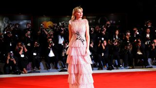"""Actor Kirsten Dunst during red carpet event for the movie """"Woodshock"""""""