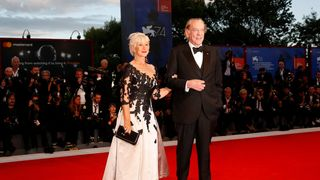 """Helen Mirren and Donald Sutherland during a red carpet event for the movie ''The Leisure Seeker"""""""