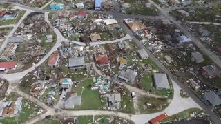 The devastating effect of Hurricane Irma on the island of Barbuda