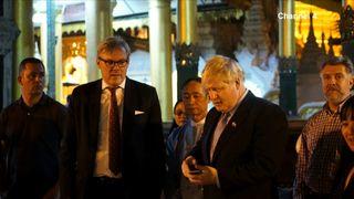 British ambassador Andrew Patrick warns Mr Johnson to cut short his recital