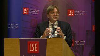 Guy Verhofstadt speaking at the LSE