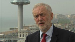 Jeremy Corbyn speaks to Sky's Faisal Islam