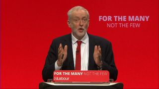 Jeremy Corbyn delivers his main speech to the 2017 Labour Party conference