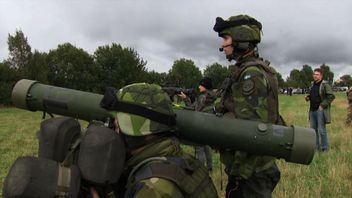 Swedish soldiers take part in war games