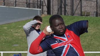 Lamin Manneh competing at the Invictus Games
