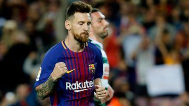 Magnificent Messi scores four