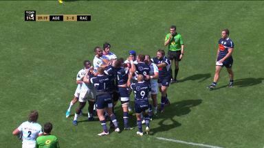 Tempers flare between Agen and Racing