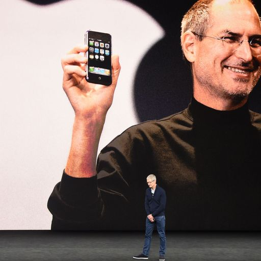 Apple's iPhone unveiled by Steve Jobs 10 years ago