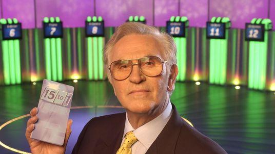 Fifteen to One quiz show host William G Stewart. Pic: FremantleMedia Ltd/REX/Shutterstock