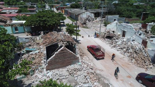 Damage in Ixtaltepec, Oaxaca, after another earthquake earlier this month