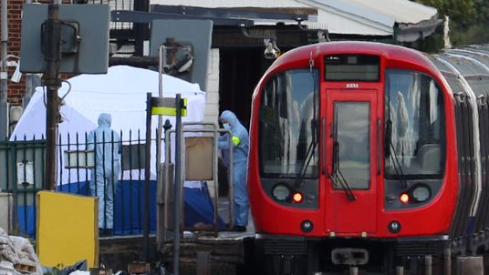 Forensic teams are combing the station for clues following the blast that injured 22 people