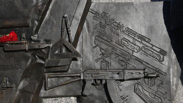 Red faces as Kalashnikov statue shows Nazi gun