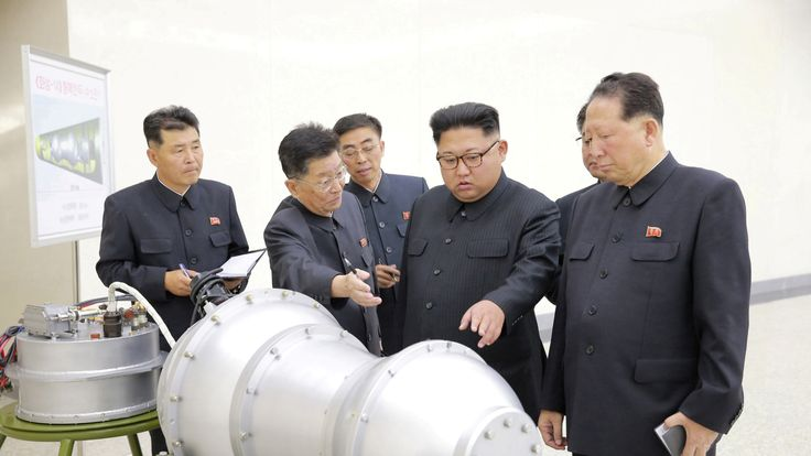 Kim Jong Un inspects what is purported to be a nuclear device
