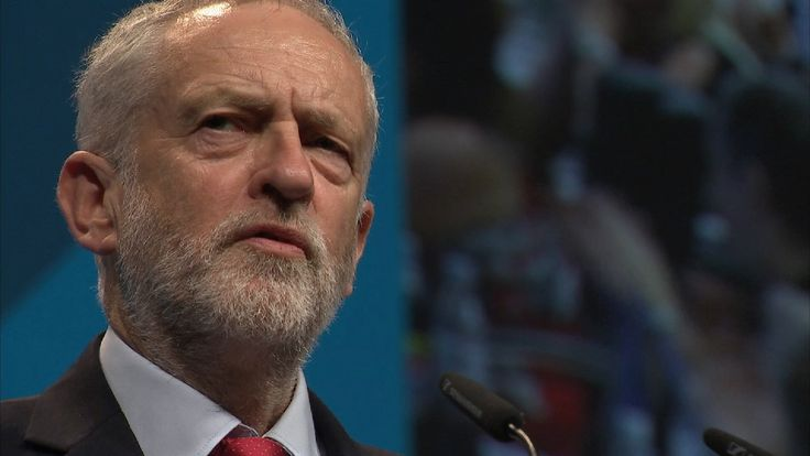 Jeremy Corbyn speaking to the TUC