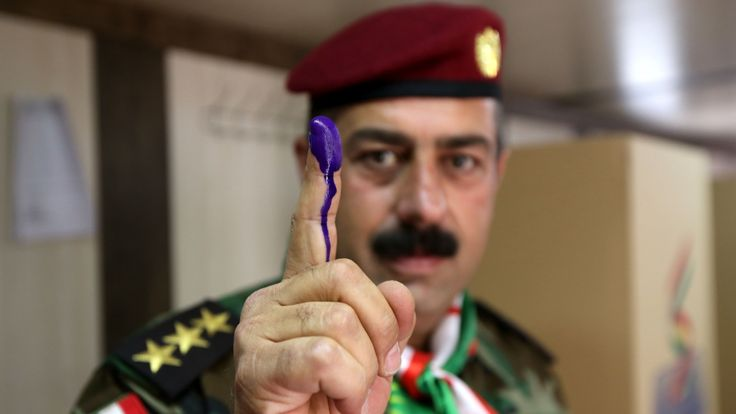 AA:US urges 'unified Iraq' as country's Kurds vote