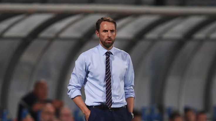 MALTA - SEPTEMBER 01 2017:  Gareth Southgate manager of England looks on from the touchline during the FIFA 2018 World Cup Qualifier against Malta