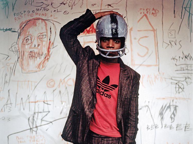 Jean-Michel Basquiat in 1981 Pic: Edo Bertoglio