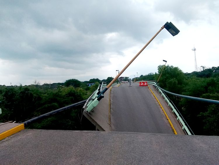 The Ixtlaltepec bridge in Oaxaca state collapsed in Mexico's earthquake