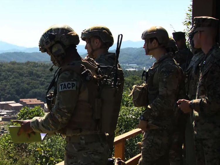 US troops take part in a military exercise in South Korea