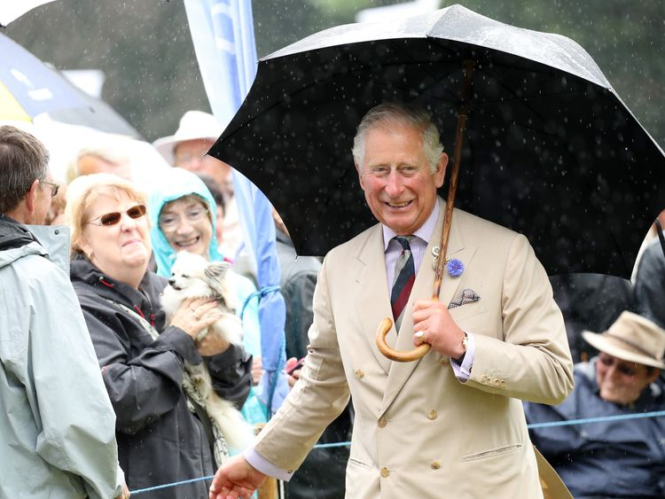Prince Charles meets wellwishers during an official visit to the Sandringham Flower Show