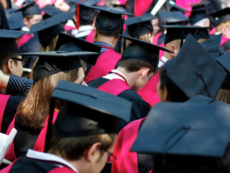 Stock photo of university graduates