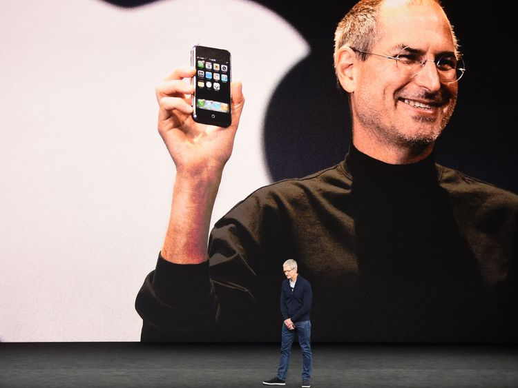 The launch included a tribute to late Apple CEO Steve Jobs