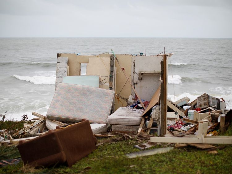Thousands of people have nowhere to live after their homes were destroyed by Hurricane Maria