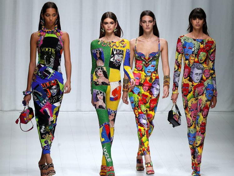 More of Versace's iconic designs were showcased to mark the 20 year anniversary of his death