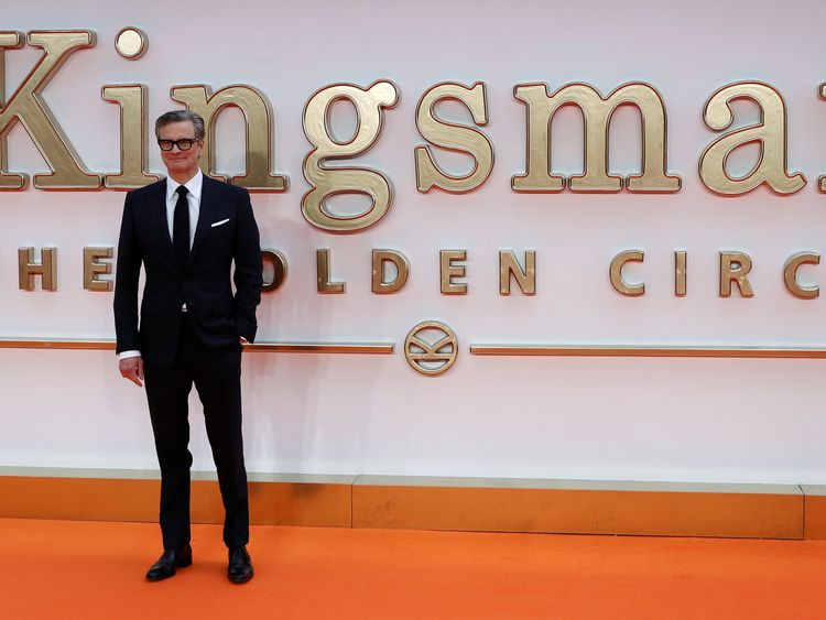 "Cast member Colin Firth arrives for the world premiere of ""Kingsman: The Golden Circle"" in London"